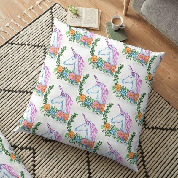 I still Believe in Magic - and Unicorns! Floor Pillow