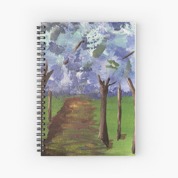 Within The Woods - Blue Forest Spiral Notebook