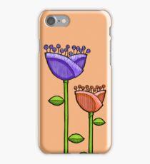Fun Doodle Flowers orange purple iPhone 4 Case iPhone Case/Skin