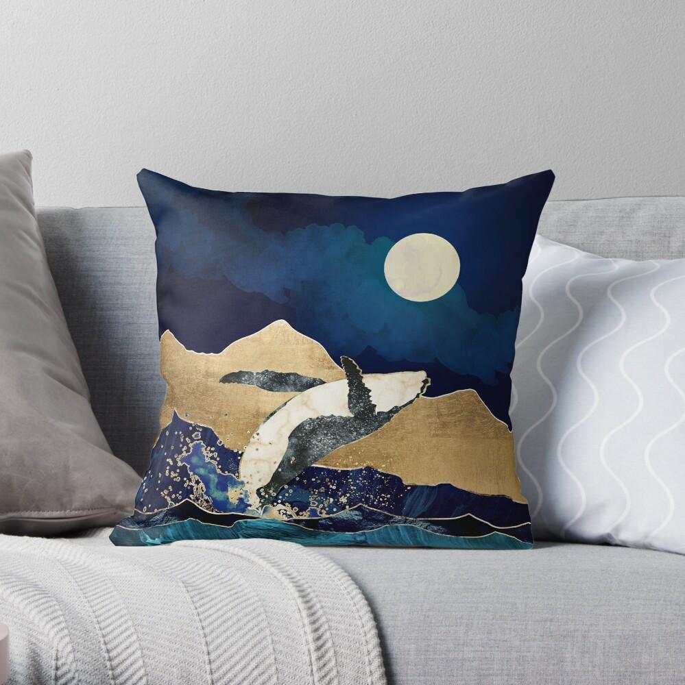 Blau und Berge Dekokissen