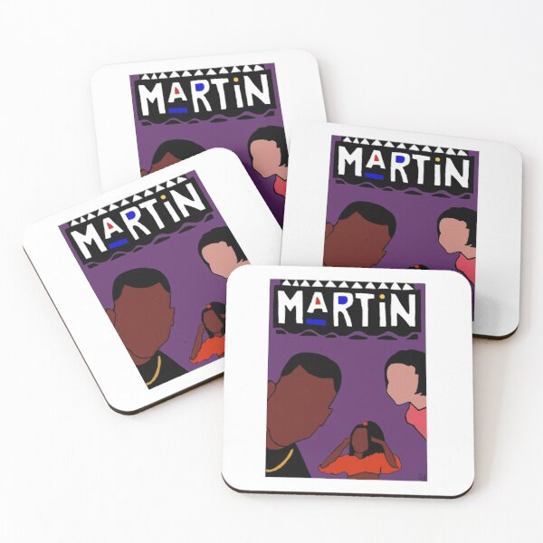 Purple Marty Mar Coasters (Set of 4)