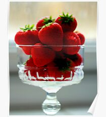 Strawberries in a Bowl Poster