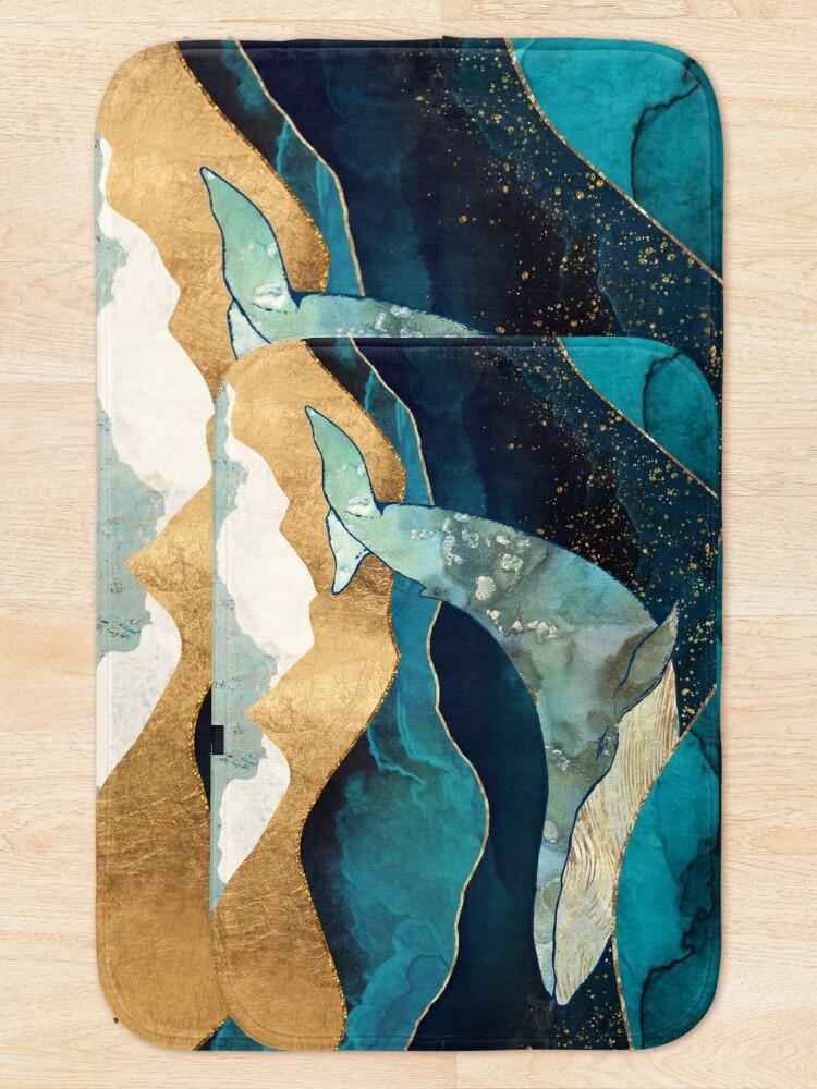 Alternate view of Blue Whale Bath Mat