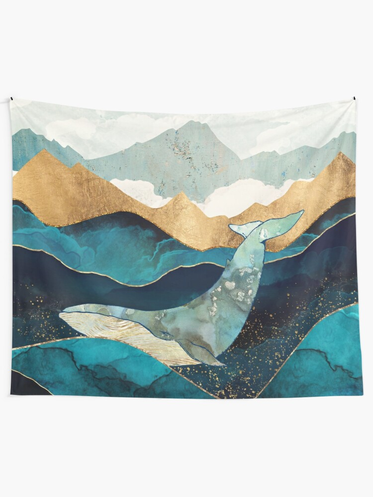 Alternate view of Blue Whale Tapestry