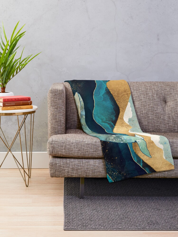 Alternate view of Blue Whale Throw Blanket