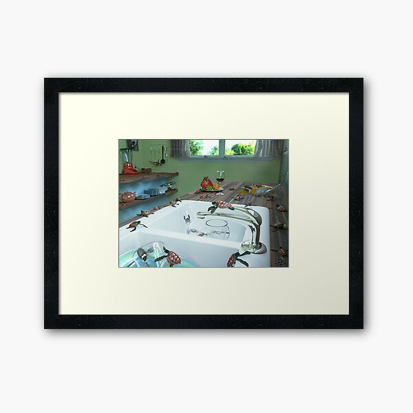 Ocean Invasion #10: The Loggerheads Got In! Framed Art Print