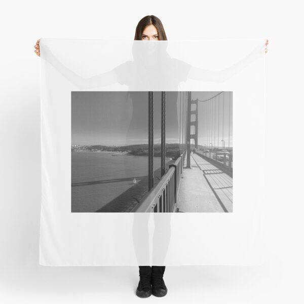 Golden Gate Bridge in monochrome  Scarf