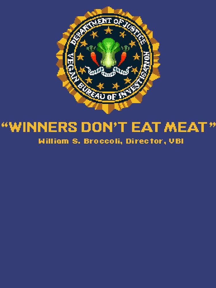 Winners Don't Eat Meat - Scott Pilgrim inspired Vegan Police Logo (transparent version) | Unisex T-Shirt