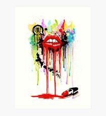 Poison Lips Kunstdruck