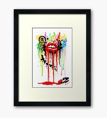Poison Lips Framed Print
