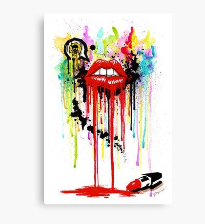 Poison Lips Canvas Print
