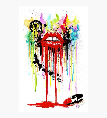 Poison Lips Photographic Print