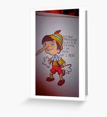 Ich Bin Pinocchio Greeting Card
