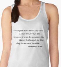 Matthew 6:34 Women's Tank Top
