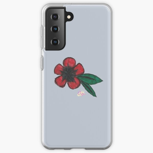 Lonely Red Flower Samsung Galaxy Soft Case