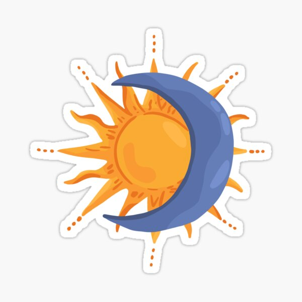Sun and Moon Sticker