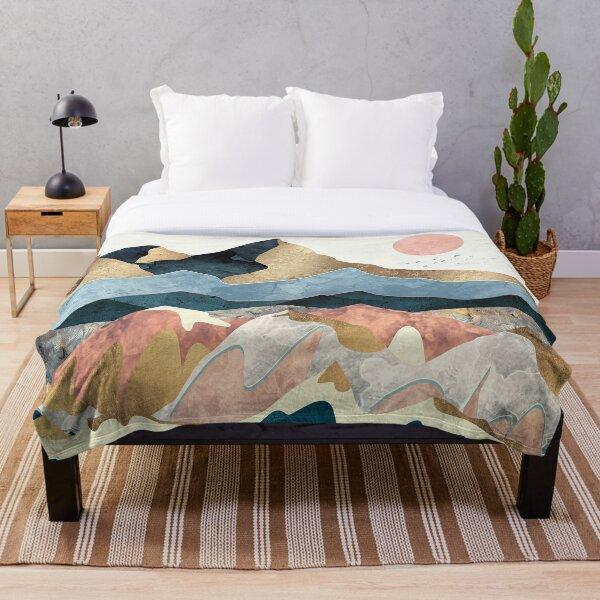 Golden Peaks Throw Blanket
