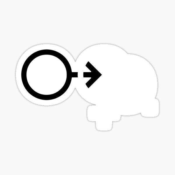 Cuckold Symbol Pattern (dark) Sticker