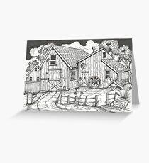 Nostalgic Yankee Barn and Workshop Greeting Card