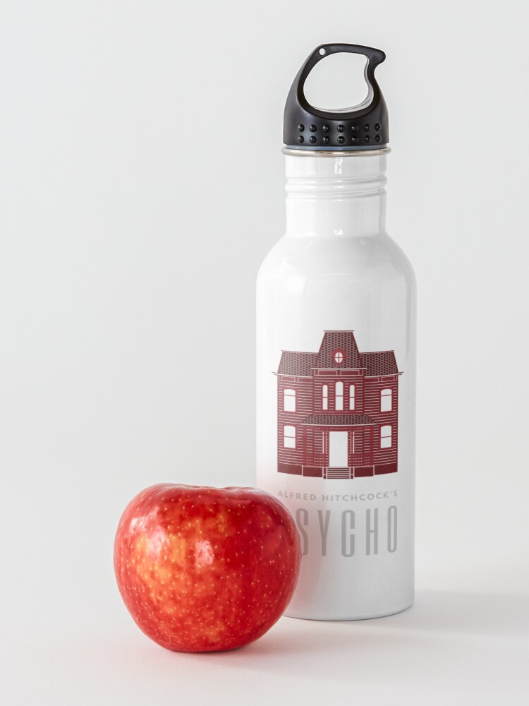 Alternate view of Alfred Hitchcock's PSYCHO (Blood Red) Water Bottle