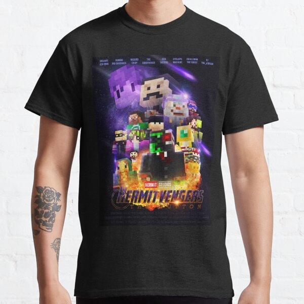 Hermitvengers - Le bouton   Hermitcraft T-shirt classique