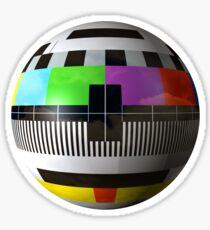 TV program test pattern Sticker
