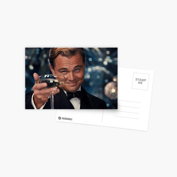 Leonardo Dicaprio Great Gatsby Carte postale