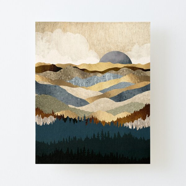 Golden Vista Canvas Mounted Print