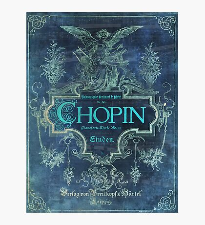 Frederick Chopin Blue Photographic Print