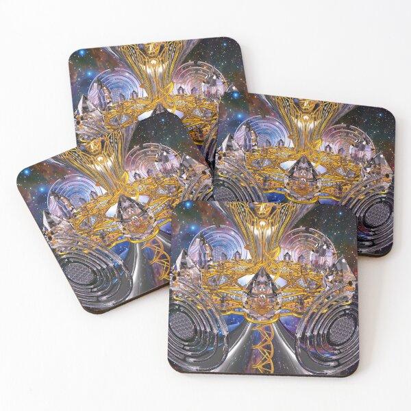 Scalar Wave DNA Healing Code Coasters (Set of 4)
