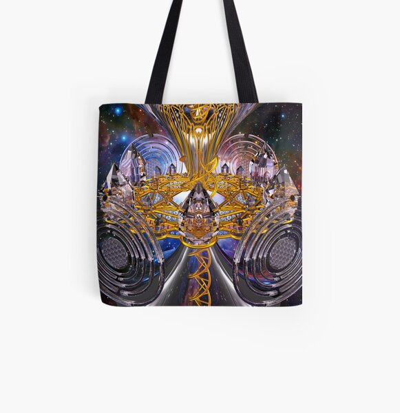 Scalar Wave DNA Healing Code All Over Print Tote Bag