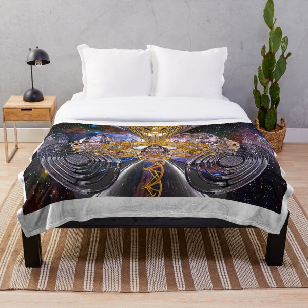 Scalar Wave DNA Healing Code Throw Blanket