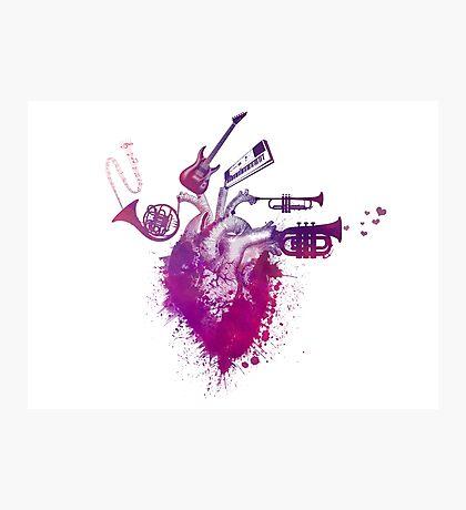 I love music Photographic Print