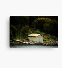 The Green Boat Shed Canvas Print
