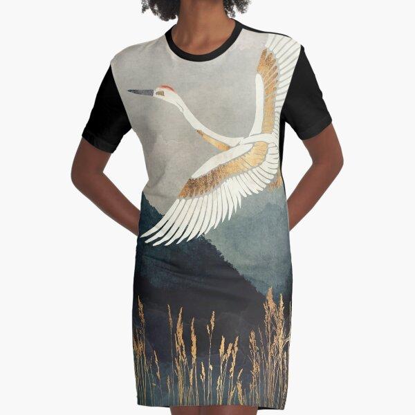 Elegant Flight Graphic T-Shirt Dress