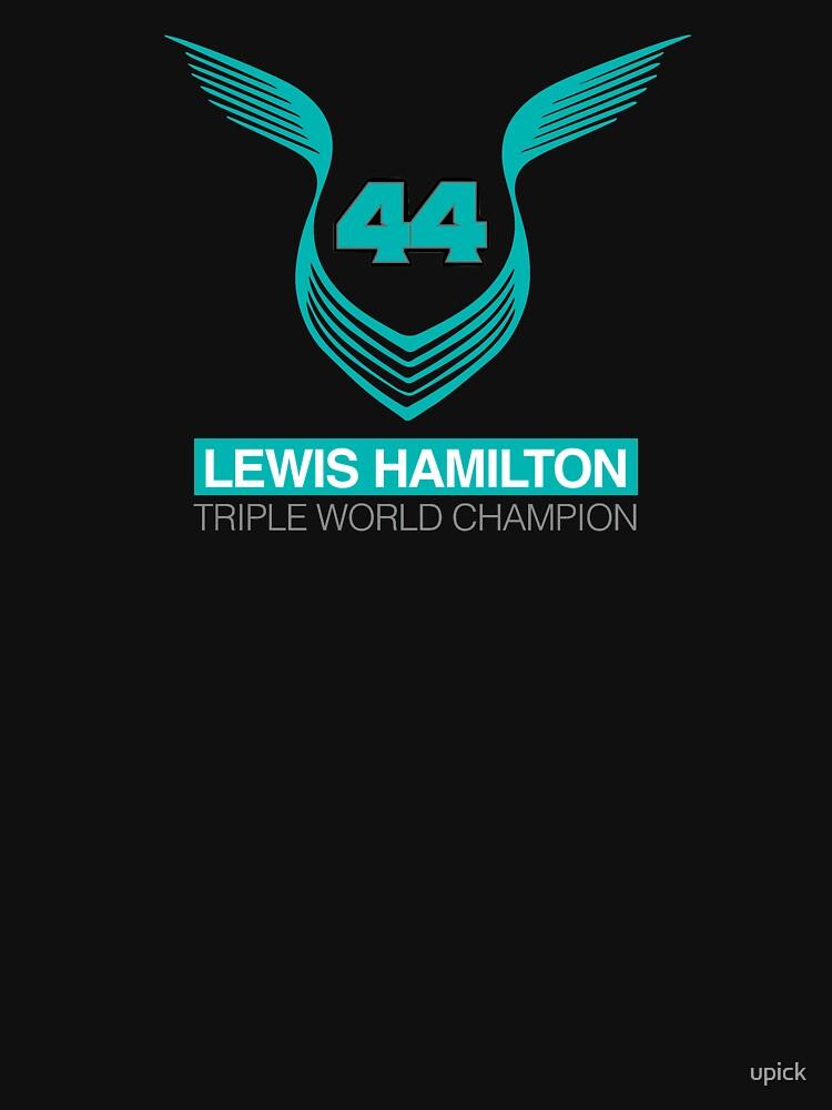 Lewis Hamilton Triple World Champion (teal) | Unisex T-Shirt