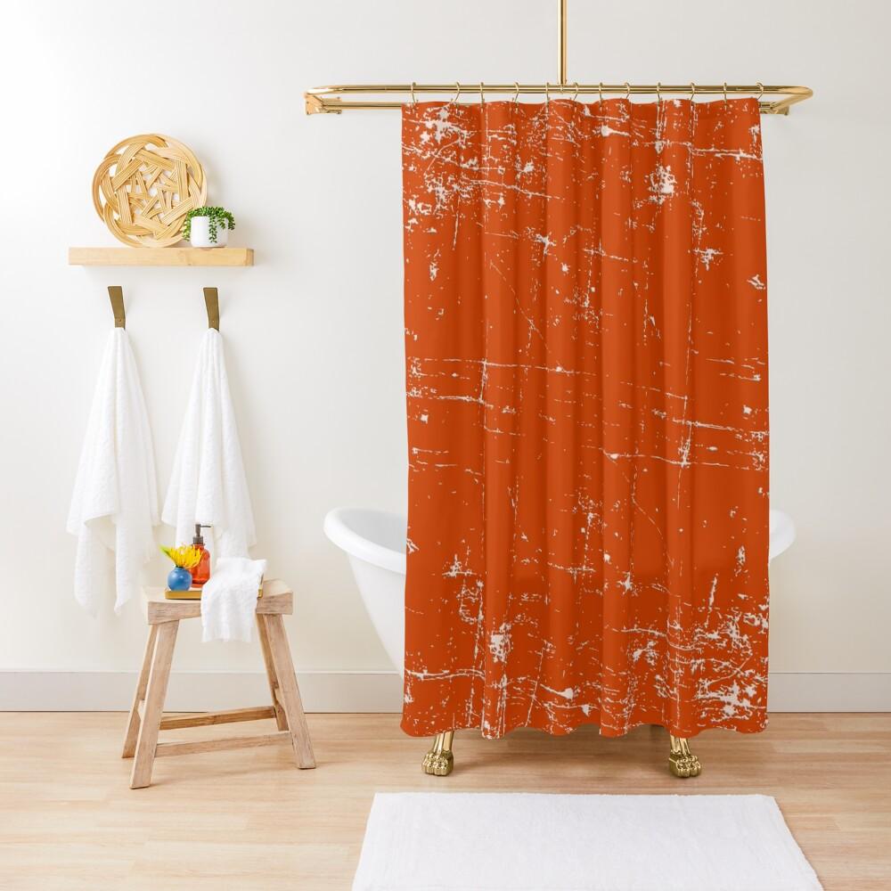 Burnt Orange Grunge Design Shower Curtain