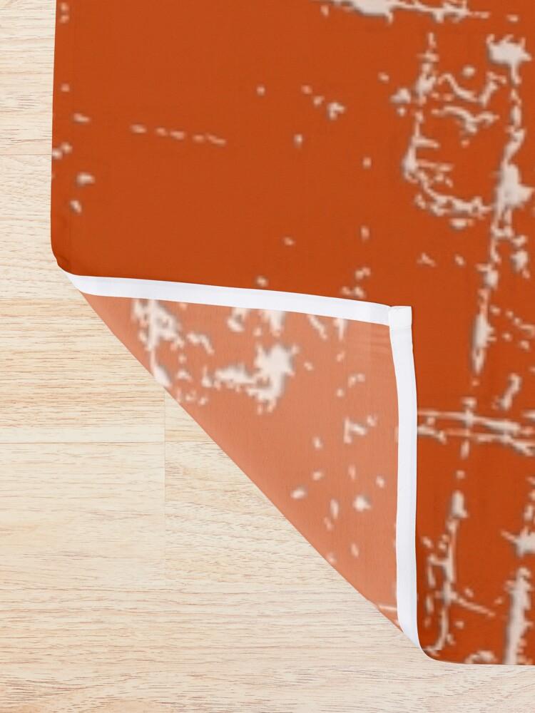 Alternate view of Burnt Orange Grunge Design Shower Curtain
