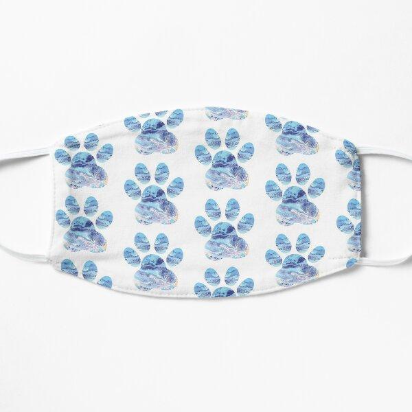 Cute Dog Paw Print Marble Print Flat Mask