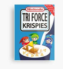 Tri Force Krispies Metal Print