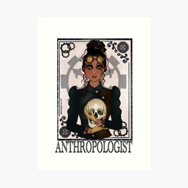 Anthropologist (SteamPunk Art) Art Print