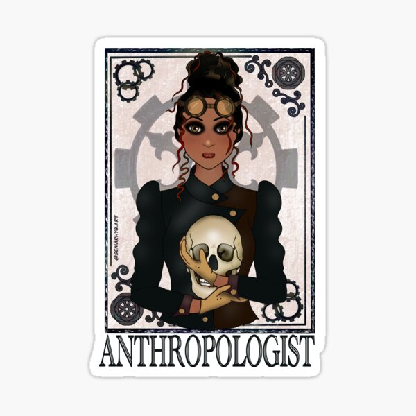 Anthropologist (SteamPunk Art) Sticker