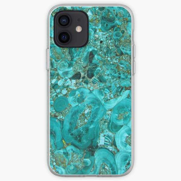 Marble Turquoise Blue Gold iPhone Soft Case