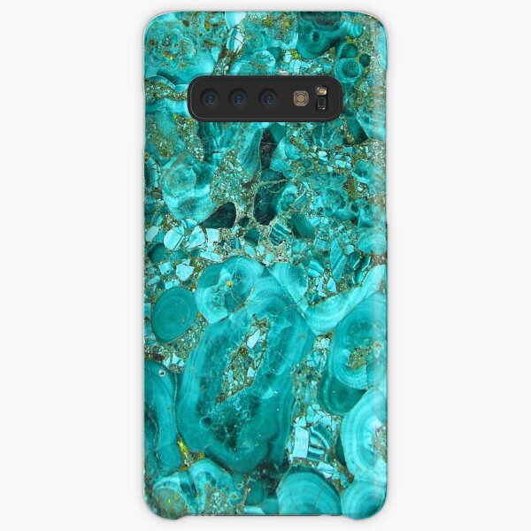 Marble Turquoise Blue Gold Samsung Galaxy Snap Case