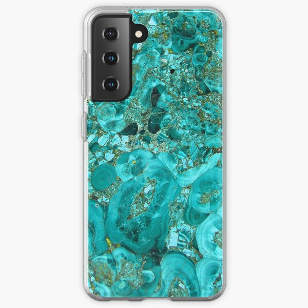 Marble Turquoise Blue Gold Samsung Galaxy Soft Case