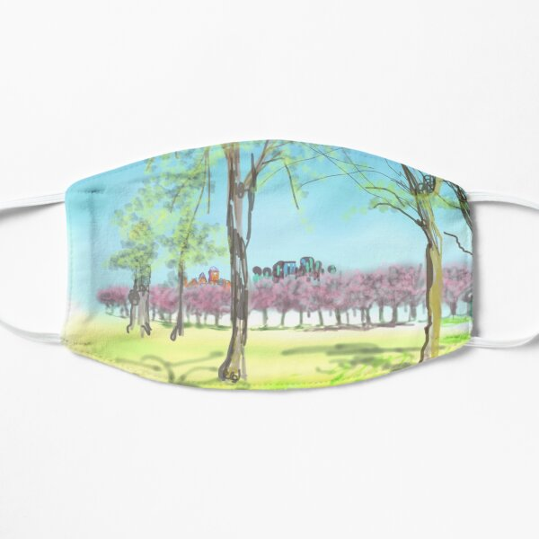 Edinburgh Cherry blossom on the Meadows today Mask