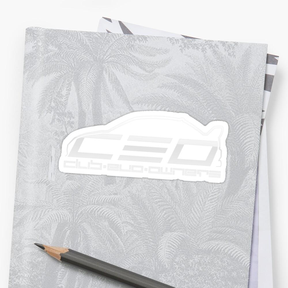 Club Evo Owners - Regular Logo (White) by James Love