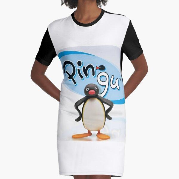 Pingu Penguin Graphic T-Shirt Dress