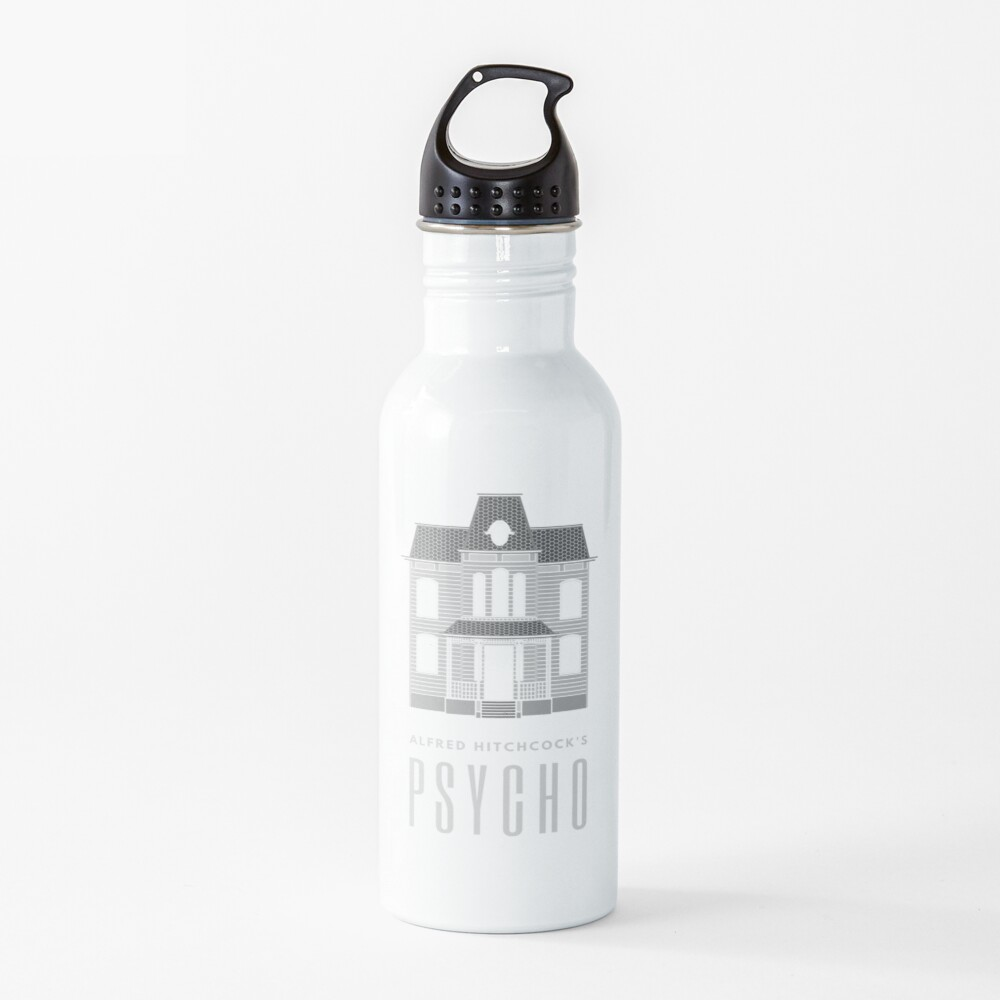 Alfred Hitchcock's PSYCHO (Grey) Water Bottle