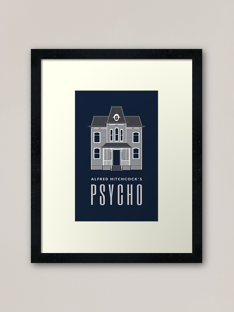 Alternate view of Alfred Hitchcock's PSYCHO (Grey) Framed Art Print